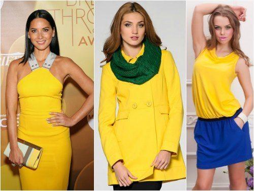 Картинки по запросу Желтый цвет в одежде